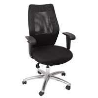 AM200 BLACK MESH CHAIR WITH ARMS