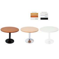 RAPIDLINE ROUND TABLE 600, 1200, WHITE, BEECH, CHERRY, BLACK, CHROME ROUND BASE