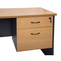 RAPIDLINE RAPID WORKER FIXED PEDESTAL BEECH & CHERRY OFFICE FURNITURE