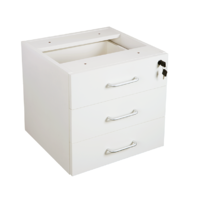 RAPIDLINE RAPID VIBE FIXED PEDESTAL 3 DRAWER WHITE OFFICE FURNITURE