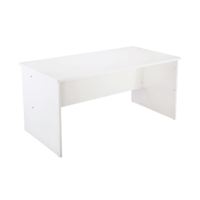 RAPIDLINE RAPID VIBE OPEN DESK WHITE OFFICE FURNITURE