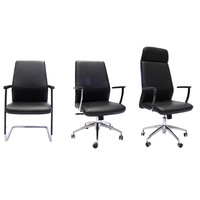 CL3000 EXECUTIVE BLACK PU LEATHER OFFICE CHAIR SERIES