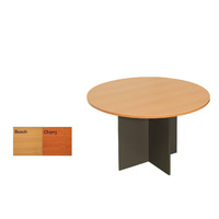 IRONSTONE BASE ROUND MEETING TABLE 900 & 1200MM WIDTHS BEECH OR CHERRY