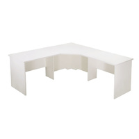 RAPIDLINE RAPID VIBE CORNER DESK WHITE OFFICE FURNITURE