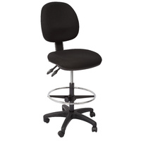 EC070 SERIES BLACK DRAFTING CHAIR 2 LEVER AFRDI