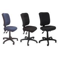 EG400 SQUARE BACK 3 LEVER OPERATOR CHAIR LARGE BLACK, CHARCOAL, NAVY AFRDI