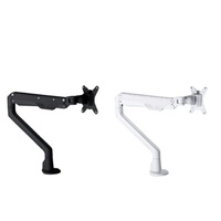 RAPIDLINE ELEVATE SINGLE MONITOR ARM BLACK & WHITE COLOURS AVAILABLE