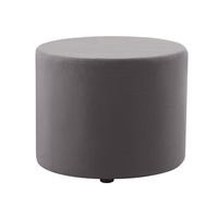 RAPIDLINE RAPID MARS ROUND FABRIC GREY OTTOMAN
