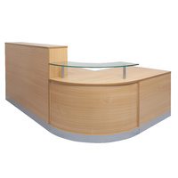 RAPIDLINE RAPID FLOW RECEPTION COUNTER BEECH OFFICE FURNITURE 2400MM WIDE