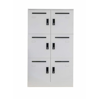 RAPIDLINE OFFICE STORAGE LOCKER 6 DOOR WHITE ASSEMBLED