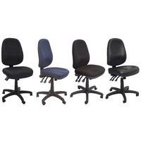 PO500 3 LEVER OPERATOR CHAIR EXTRA LARGE BLACK, CHARCOAL, NAVY, VINYL AFRDI