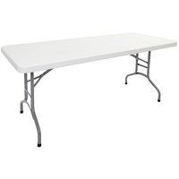RAPIDLINE WHITE POLY FOLDING TABLE 1800W X 750D X 720H