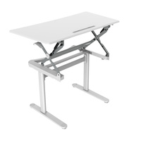 RAPIDLINE RAPID SURGE GAS LIFT HEIGHT ADJUSTABLE DESK WHITE 1190W X 590D X 750-1100H