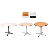 RAPIDLINE RAPID 4 STAR ROUND MEETING TABLE WHITE, APPLETREE, BEECH & CHERRY OFFICE FURNITURE