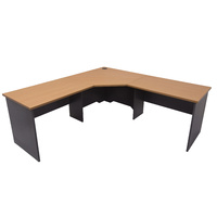 RAPIDLINE RAPID WORKER CORNER DESK BEECH & CHERRY OFFICE FURNITURE
