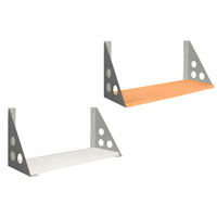 RAPIDLINE RAPID SHELF AND BRACKETS FOR DESK SCREEN WHITE AND BEECH