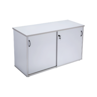 RAPIDLINE RAPID VIBE SLIDING DOOR CREDENZA GREY OFFICE FURNITURE
