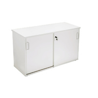RAPIDLINE RAPID VIBE SLIDING DOOR CREDENZA WHITE OFFICE FURNITURE