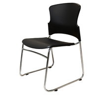 ZING BLACK PLAASTIC STACKABLE OFFICE CONFERENCE CHAIR