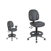 ANSER BLACK VINYL DRAFTING OFFICE, WAREHOUSE, LAB CHAIR