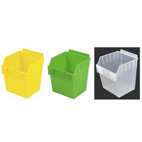 SLATBOX PARTS TRAY STORAGE TUB BLUE, RED, GREEN, YELLOW & CLEAR SLAT WALL & SLAT GRID COMPATIBLE 150W X 150D X 178H