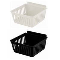 SLATBOX PARTS TRAY STORAGE TUB BLACK & WHITE CRATEBOX SHORT SLAT WALL & SLAT GRID COMPATIBLE 140W X 160D X 83H