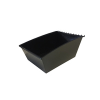 SLATBOX PARTS TRAY STORAGE TUB BLACK SLAT WALL, SLAT GRID AND PEGBOARD COMPATIBLE 285W X 395D X 170H