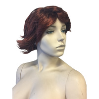WOMENS AUBURN RED SHORT WIG SYNTHETIC HAIR WAVEY, CURLY, COSPLAY, PARTY HAIR