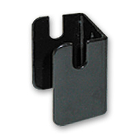 DOUBLE SLAT GRID WALL BRACKET BLACK