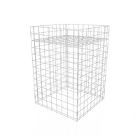 SMALL WIRE DISPLAY DUMP BIN STAND WHITE