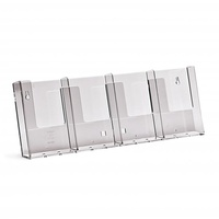 1/3 A4 ACRYLIC PLASTIC BROCHURE HOLDER 4 POCKET DISPLAY