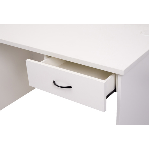 RAPIDLINE RAPID VIBE FIXED DESK DRAWER PEDESTAL 1 DRAWER WHITE & GREY OFFICE FURNITURE