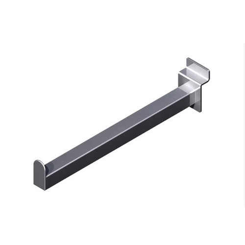 STRAIGHT ARM 300MM CHROME FOR SLAT WALL SLAT GRID SYSTEMS [Width: 300mm]